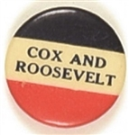 Cox and Roosevelt Scarce RWB Celluloid