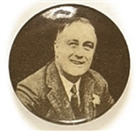 Franklin Roosevelt Head and Shoulders Pin