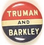 Truman and Barkley Red, White, Blue Litho