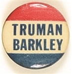 Truman, Barkley Red White and Blue Celluloid