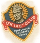 OK Ike Club Sunflower Ordnance Pin