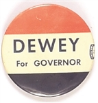 Dewey for Governor Red, White and Blue Celluloid