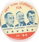 New York Students for Johnson, Humphrey, Kennedy