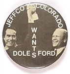 Jeffco Wants Ford, Dole