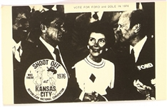 Gerald Ford with Reagans Convention Postcard