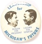 Reagan, Lousma Michigan Coattail