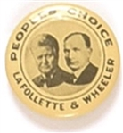 LaFollette and Wheeler 1924 Peoples Choice Jugate