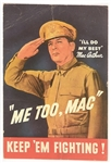 Me Too, Mac, MacArthur World War II Postcard
