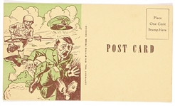 Anti Hitler World War II Postcard