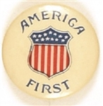 America First Patriotic Shield Pin