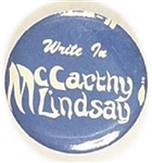 Write In McCarthy and Lindsay