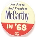 McCarthy for Peace and Freedom