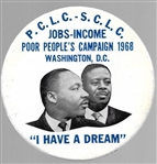 King, Abernathy SCLC Civil Rights Pin
