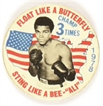 Ali Floats Like a Butterfly 3-Time Champ