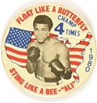 Ali Floats Like a Butterfly 4-Time Champ