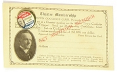 Coolidge Hometown Club Card and Pin