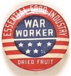 World War II Essential Food Industry War Worker