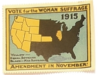 Vote for Woman Suffrage 1915 Stamp