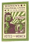 Womens Political Union New Jersey Votes for Women Stamp