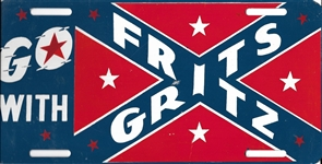 Gritz and Fritz Confederate Battle Flag License