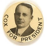 Cox for President 1 1/4 Inch Celluloid