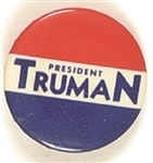 President Truman Red, White and Blue Celluloid