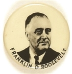 Franklin D. Roosevelt Black, White Picture Pin