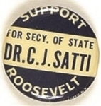 Roosevelt, Satti for Secretary of State Connecticut Coattail