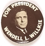Willkie for President Brown, White Celluloid