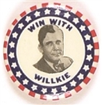 Win With Willkie Stars and Stripes