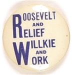 Roosevelt and Relief, Willkie and Work