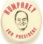 Humphrey for President Small Size Portrait Celluloid