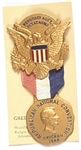 Dewey 1944 Asst. Sgt. Arms Convention Badge, Card