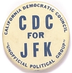 CDC for JFK, California Kennedy Pin