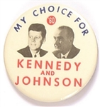 Kennedy, Johnson My Choice for 60 Jugate