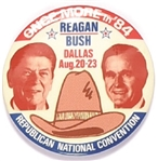 Reagan, Bush 1984 Convention Jugate
