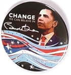 Obama Colorful 2008 Celluloid