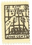 Save the Scottsboro Boys One Cent Stamp