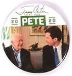 Jimmy Carter with Pete Buttigieg