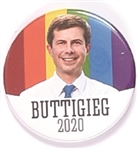 Buttigieg Rainbow Pin