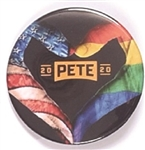 Buttigieg Heart of Hands Pin