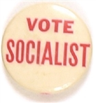 Vote Socialist Red and White Celluloid