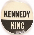 Robert Kennedy and King Black and White Celluloid