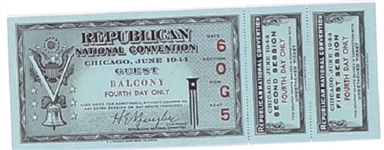 Dewey 1944 Fourth Day Convention Ticket