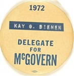 Kay G. Bienen, Delegate for McGovern