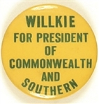 Willkie for President of Commonwealth and Southern