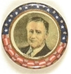 Franklin Roosevelt Colorful 3/4 Inch Celluloid