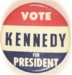 Vote Kennedy for President RWB Celluloid