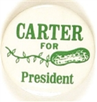 Carter for President Peanut Celluloid
