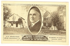 Harding Ohio Homes Postcard